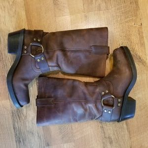 Mossimo Supply leather motorcycle style boots